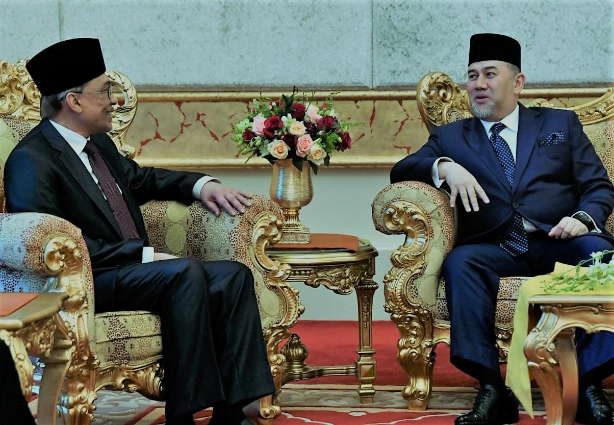 Anwar Ibrahim and Tuanku YDP Agong