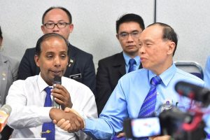 HR Minister, M Kulasegaran at press conference to exonerate Top Glove