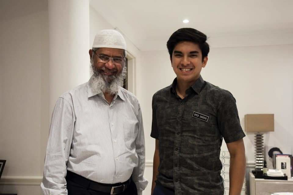 All is forgiven - Syed Saddiq (right) is all smiles after dinner date with Zakir Naik.